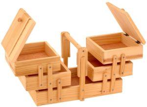 Photo de la boite à couture Emako en bois