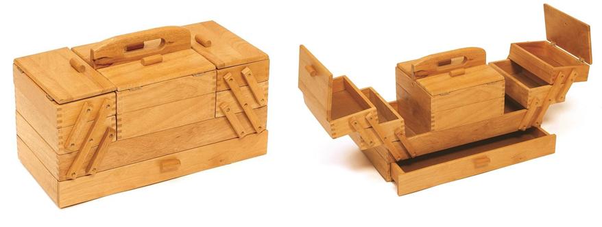 photo de la boite à couture Hobby Gift bois